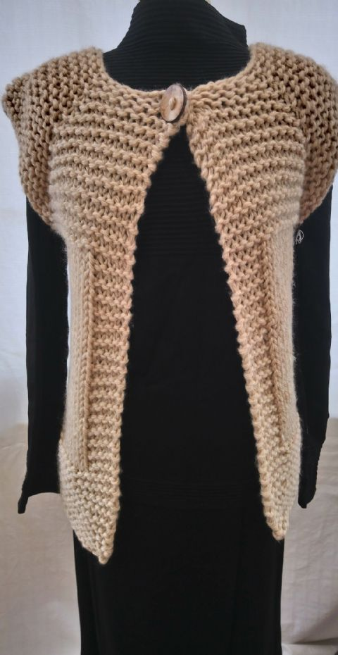 Chunky cap sleeved cardigan
